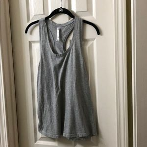 Fabletics Tops - EUC Fabletics Racerback Gray Workout Tank Medium